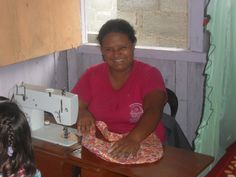 Learning to sew with Project Ecuador