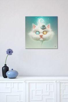 The Odd Kitty by Dr. Lukas Brezak Canvas Print