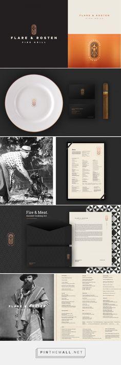 Flare & Rosten Fire Grill Restaurant Branding and Menu Design by Jaime Espinoza | Fivestar Branding Agency – Design and Branding Agency & Curated Inspiration Gallery