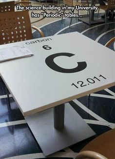 Funny pictures about Clever Periodic Tables. Oh, and cool pics about Clever Periodic Tables. Also, Clever Periodic Tables photos. Science Jokes, Science Geek, Chemistry Jokes, Chemistry Table, Science Room, Chemistry Class, Science Classroom, Science Art, Science Education
