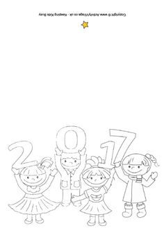 2017 kids colouring card