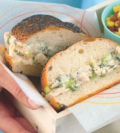 Chicken Salad Sandwiches with Blue Cheese