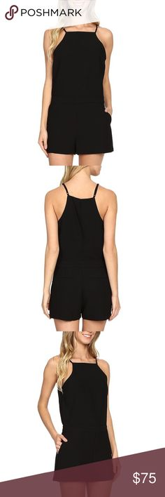 Black romper jumpsuit Super cute and simple staple black playsuit.**remember to check out my Instagram @brieharding to see my closet in motion. Everything in my closet has been curated with love and I rock it myself! Sanctuary Other
