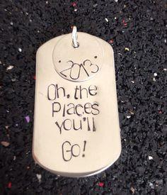 Oh The Places You'll Go graduation keychain by ThreeLittleBirdsllc, $10.00