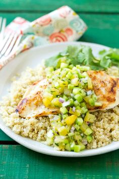 Grilled Chicken with Pineapple Salsa Recipe | Healthy Fitness Meals