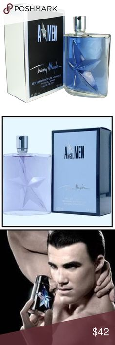 NIB Thierry Mugler 'A Men' Men's 3.4-ounce spray NIB Thierry Mugler 'A Men' Men's 3.4-ounce Eau de Toilette Spray NIB Large 3.4oz Eau de Toilette Natural Spray  By the design house of Thierry Mugler  Notes of mint, coffee, caramel & lavender  Retail: $85. A Men, from the fragrance design house of Thierry Mugler, is an indulgent fragrance for the man who likes to take care of himself.   Fresh mint notes are cooling and refreshing, the scent of coffee is warm and intense. Caramel notes add to…