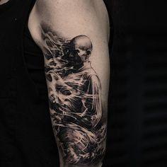 Burning monk, inprogress - background next! @bangbangnyc @lundbergcustom @tattoocyn @eikondevice #tattoo#tattoos#bng#realistictattoo#bangbangtattoo#newyorkcity