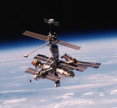 The Russian space station Mir, as seen from the space shuttle Atlantis after undocking during Earth And Space, Cosmos, Station Mir, Russian Space Station, Nasa Space Program, Universe Today, Space And Astronomy, Space Time, Space Shuttle