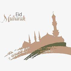 Silhouette of the Islamic Mosque Eid Mubarak Greetings, Happy Eid Mubarak, Ramadan, Islamic Background Vector, Wallpaper Ramadhan, Eid Mubarak Wallpaper, Eid Card Designs, Mosque Vector, Muslim Eid
