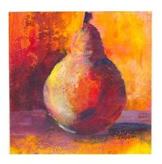 """Red Pear"" - Original Fine Art for Sale - � Kara Butler English"