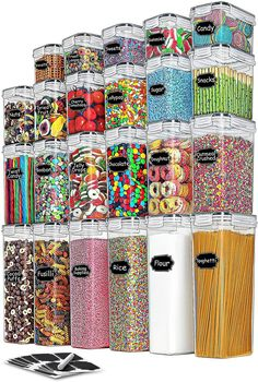 (This is an affiliate pin) Containers Set TAEVEKE Organization Canisters Supplies Labels