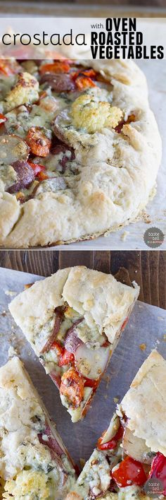 A great way to clear out the vegetable bin in your refrigerator, this Crostada with Oven Roasted Vegetables is a filling vegetarian recipe that is packed with flavor.
