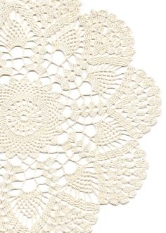 Crochet Doilies Lace Doily Table Decor Crocheted Place Mat