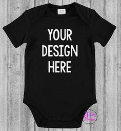 Personalised black bodysuit/romper/onesie - your design by TotallyStamped on Etsy https://www.etsy.com/au/listing/467985191/personalised-black-bodysuitromperonesie