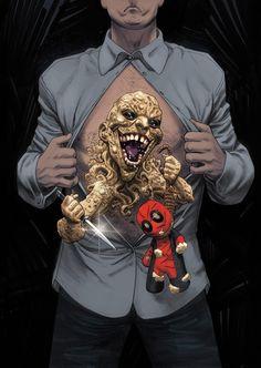 #Deadpool #Fan #Art. DEADPOOL #21 Cover) By: MIKE HAWTHORNE. ÅWESOMENESS!!!™ ÅÅÅ+