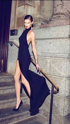 "Love this for "" after dark"" evening dress . Maybe we slick your hair back as final shot , after some other images completed with flowing locks"