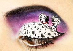 """Part of my """"101 Dalmatians"""" looks. Was my first try doing looks like this!"""
