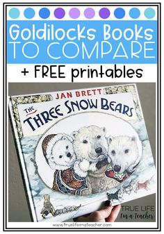 List of Goldilocks and the Three Bears books to compare and contrast, plus free printables! Teaching Reading, Guided Reading, Kindergarten Reading, Reading Stations, Goldilocks And The Three Bears, Kindergarten Language Arts, Fairy Tales For Kids, 2nd Grade Reading, Mentor Texts