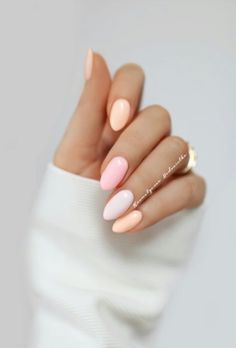 Exquisite Pastel Color Nails To Freshen Up Your Look - crazyforus : Exquisite Pastel Color Nails To Freshen Up Your Look: Peach Pastel Colors Nails Designs Gorgeous Nails, Love Nails, My Nails, Pastel Color Nails, Pastel Colors, Pastel Shades, Colorful Nails, Pastels, One Color Nails