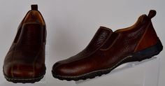 Born Mens Brown Distressed Leather Slip On Shoes 11 Medium Used #Born #LoafersSlipOns