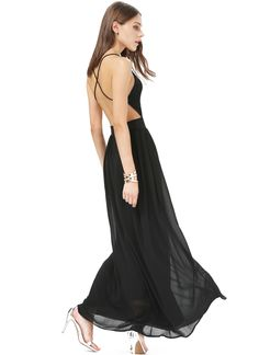 Shop Black V-neck Spaghetti Straps Backless Maxi Dress online. Sheinside offers Black V-neck Spaghetti Straps Backless Maxi Dress & more to fit your fashionable needs. Free Shipping Worldwide!
