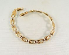 Vintage gold bracelet 18K solid gold bracelet by MidwestArtObjects #teamlove #snrtg SOLD