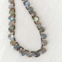 Ruffled Labradorite Necklace