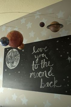 Chalkboard Frame to Leave Messages to Your Child - #nursery #kidsroom
