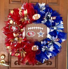 A personal favorite from my Etsy shop https://www.etsy.com/listing/275052156/sports-wreath-house-divided-wreath