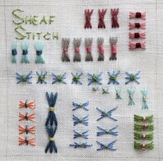 Summer Stitch School Week 7: Sheaf Stitch