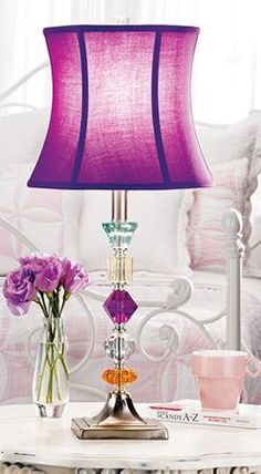purple lamp - need this for our bedroom