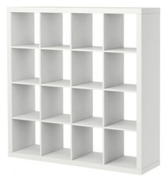 """by IKEA  Expedit Bookcase - $129.00  This bookshelf does it all. Use the Expedit as a room divider, closet organizer, or, you know, for housing a collection of books. The cubbies are also the perfect size for storing vinyl records.    Dimensions: 58 5/8"""" width x 15 3/8"""" depth x 58 5/8"""" height.  Available in 3 colors."""