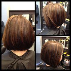 Short Stacked Haircuts: Medium Straight Bob