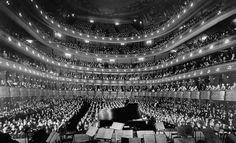 Inside the old New York City Metropolitan Opera House, 1937
