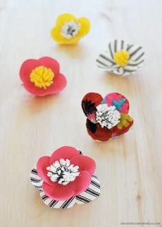 Flower Pushpins | Creature Comforts | #diy #office