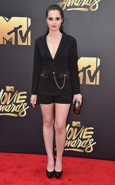Vanessa Marano from MTV Movie Awards 2016 Red Carpet Arrivals  The Switched at Birth star is red carpet ready in her black ensemble.