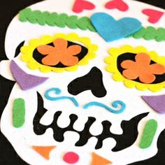 """Felt Board Calavera - printable for the """"parts"""", but no template for the skull"""