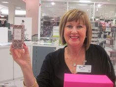 My friend and neighbour and fragrance genius, Donna Warner at The Bay, Dartmouth, Nova Scotia.