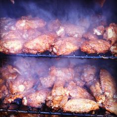 Smoking wings.