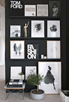 13 Ways to Achieve a Scandinavian Interior Style Black gallery wall styled to perfection by Stylizimo. Check out our 13 simple tips to achieve a Scandinavian interior style, including loads of photos for inspiration >>> Estilo Interior, Interior Styling, Interior Decorating, Decorating Ideas, Tree Interior, Decorating Websites, Coastal Interior, Natural Interior, Modern Coastal