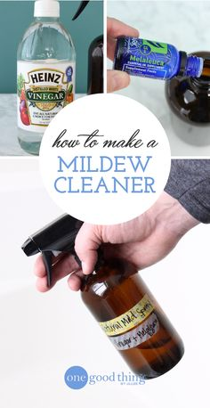 Today I'm sharing a super simple cleaning spray that is perfect for tackling mold and mildew in the bathroom, laundry room, or wherever they may pop up. This spray only has two ingredients, and it doesn't really get any easier than that! Cleaning Spray, Deep Cleaning Tips, Toilet Cleaning, Bathroom Cleaning, House Cleaning Tips, Natural Cleaning Products, Cleaning Solutions, Spring Cleaning, Cleaning Hacks