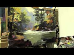 Сахаров , научиться рисовать пейзаж маслом на холсте, уроки рисования в Москве - YouTube