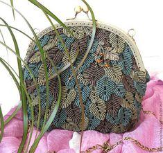 About Macrame.: Cara membuat tas macrame motif daun tempel dengan ...