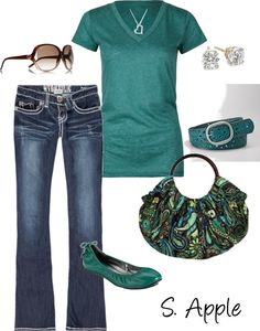 """""""Teal-Paisley"""" by sapple324 on Polyvore. I just want the damn purse!!!!"""