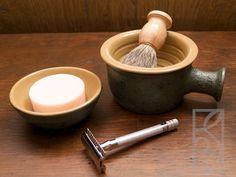 Shaving Scuttle by olisny on DeviantArt Shaving Stand, Wet Shaving, The Razors Edge, Deviantart, Ceramics, Pottery Ideas, Traditional, Image, Ceramica