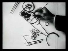 KANDINSKY 1866-1944 Video of him drawing! (2 minutes, black & white, no sound/music)