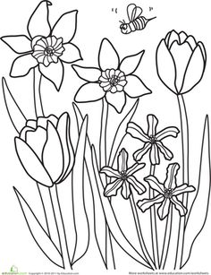 10 Printables to Spring into Spring   Education.com Toy Story Coloring Pages, Mario Coloring Pages, Spring Coloring Pages, Printable Adult Coloring Pages, Disney Coloring Pages, Coloring Pages To Print, Free Coloring Pages, Coloring Books, Free Coloring Pictures