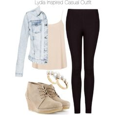 """Lydia Inspired Casual Outfit"" by veterization on Polyvore"