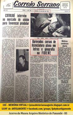 IJUÍ - RS - Memória Virtual: Reconhecimento dos cursos de Letras Plena e Geogra...