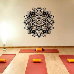 Wall Decals Mandala Om Sign Decal Yoga Sticker Vinyl Decals Wall Decor Murals Z373